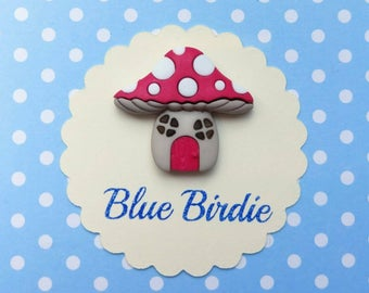 Toadstool brooch toadstool jewelry fairy house jewellery toadstool jewellery toadstool gift fairy tale jewelry red and white toadstool