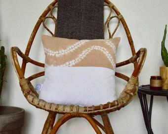 Cushion Shibori Tie Dye Camel Ma
