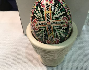 Pysanky Egg - Orthodox cross