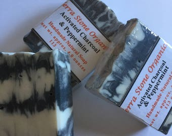 Activated Charcoal & Peppermint Soap + Unscented available