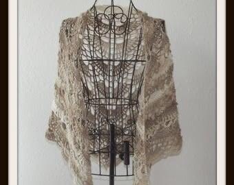 Yes Yes Shawl, Crochet Shawl, Shawl, Crochet Wrap, Cover Up, Lace Cover Up, Light Weight Shawl, Cozy Shawl, Triangle Shawl