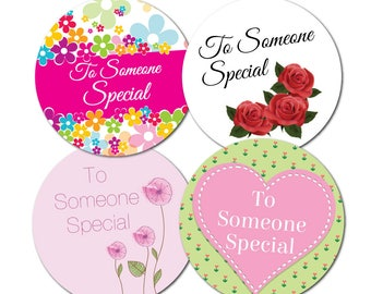 To Someone Special Stickers - 4 designs per pack, 60mm - crafts, cards, shops