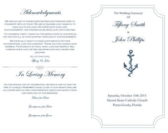 Wedding Church Program (Customizable)