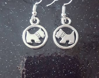 Gorgeous Silver Colour Westie Dog Earrings, Must see!!!