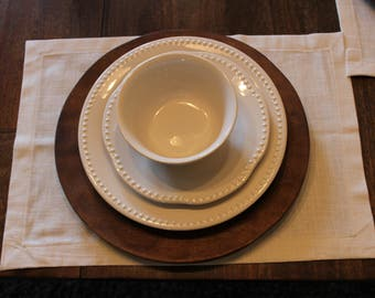 Off-White Linen Placemats - Set of 4