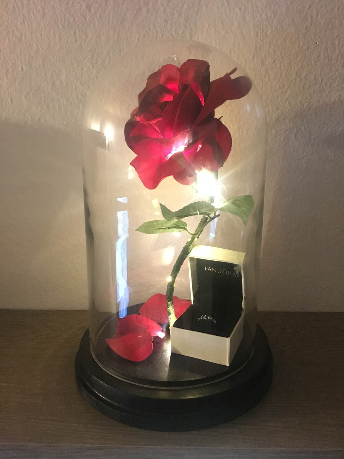 Beauty and the Beast Rose Enchanted Rose Rose in Glass Dome