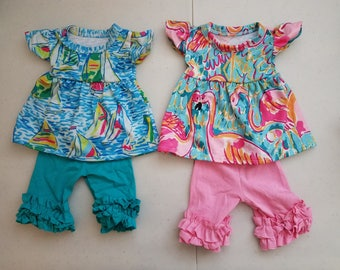 Lilly Pulitzer Inspired American Girl  Our Generation Doll Outfits