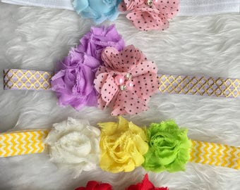 Shabby Flowers Headbands