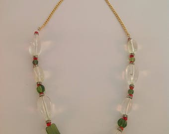 ACRYLIC CLEAR NECKLACE