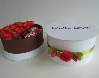Paper flower gift box