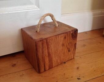 Rustic oak door stop