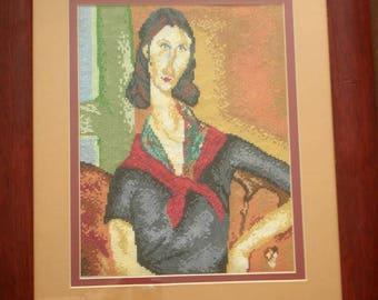 Jeanne Hebuterne - Hand Embroidery