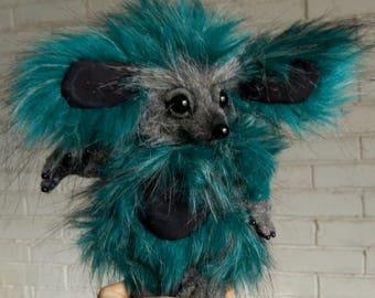Fantasy hedgehog The Home Spirit.OOAK teddy