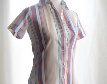 1970's Button down blouse by Huk A Poo