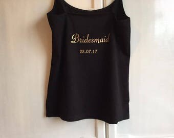 Personalised Bridal Party vest tops