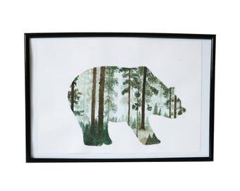 Original Bear In The Woods Watercolor
