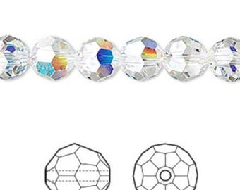 Pack of 10 ~ Genuine Swarovski Crystal 8mm Round 5000 Aurore Boreale