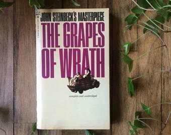 John Steinbeck Grapes of Wrath Paperback Vintage Used Book Fiction Literature