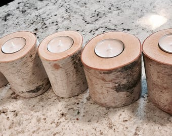 Birch Wood Custom Candles