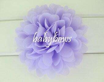 2 Lilac Purple Big Flower Baby Girl Flower Hair Clips 1 Pair