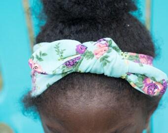 Turban Headband - Birthday Day Gift for Her - Stretchy Headband - Fabric Headband - Turban Headwrap - Floral Headband - Twist Headband