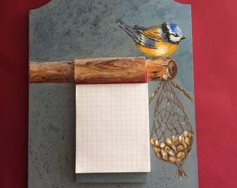 Block Notes chickadee