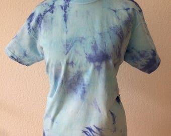 DIY tie-dyed t-shirt blue