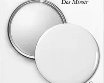 10 Pocket mirrors: 5.6 Cmo customizable with text and photo.