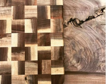 One-of-a-Kind Walnut Squares Cutting Board