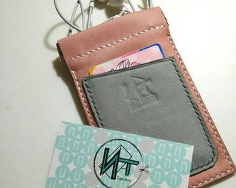 Open clip leather coins bag together with cardholder *nnat_square