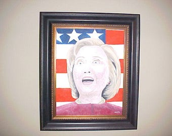 Hillary Clinton oil painting