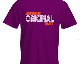 30th birthday Tshirt-original since 1987 Tshirt-30th birthday gift-original tshirt-slogan Tee-statement Tshirt-mens short sleeved Tee-