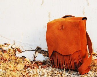 Handmade Leather Backpack 35x25x10 cm