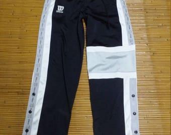 Vintage 90's Wilson Rare Desing Hip Hop Style /Stripe Logo sweatpants