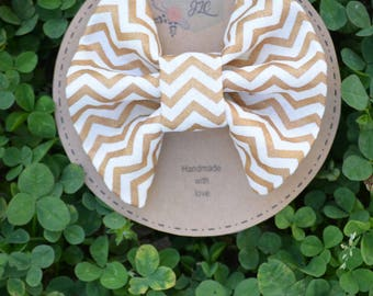 Gold Clip-in Bow - Baby Bow - Toddler Bow - Bows