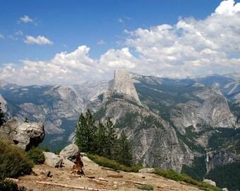 "Photograph, Landscape photograph print, 14"" x 18"". image, matted, Yosemite, mountains, half dome, photographic art by Rudolf Lanzendorfer"