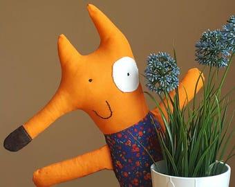 The FOX original plush little toy Handmade Gift Rag Fabric toys