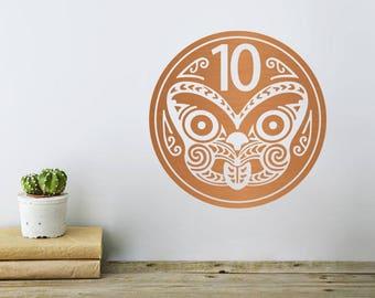 NZ 10 Cent Coin Wall Decal