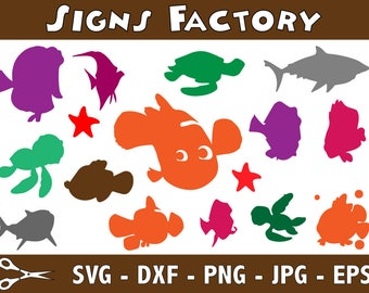 Finding Nemo svg, Dory SVG, svg cutting file - Silhouette - finding nemo - finding dory - SVG DXF Png Eps Jpg files - Digital Cut Files