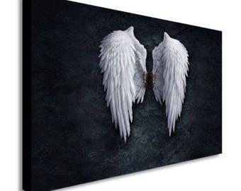 Banksy Angel Wings Canvas Wall Art Print - Various Sizes