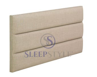 3ft single marlow upholstered headboard choose any fabric also available in various heights