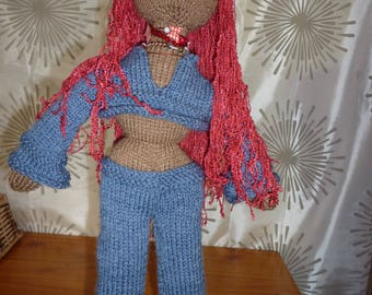 "Hand Knitted ""Babe"" doll, 22 inches ""Samantha"""