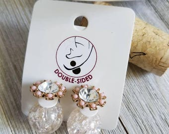 Double Sided Stud Earrings