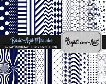 Navy Blue Digital Paper
