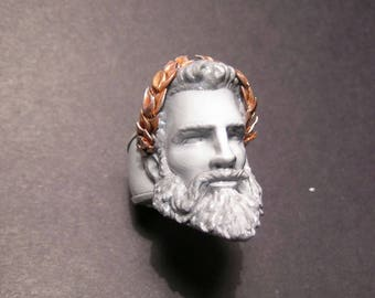 Zeus's Ring, printed in 3D, 3D printed, hand painted, hand painted