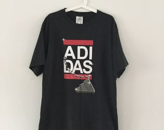 Vintage Adidas RUN DMC T-Shirt - M