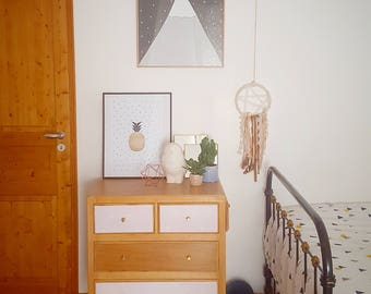 Dresser vintage feet compass revamped Scandinavian spirit
