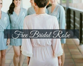 Lace Bridal Robe // Bridesmaid Robes // Robe // Bridal Robe // Bride Robe // Bridal Party Robes // Bridesmaid Gifts // Satin Robe
