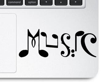 Music Note Decal, Music Note Sticker, Music Note Laptop Decal, Music Note Decal, Music Note Stickers, Laptop Decal, Laptop Stickers, Macbook