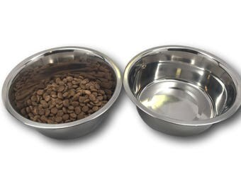 Stainless Steel Classic Dog Bowl Set, 2-Quart, 2 Bowls! …